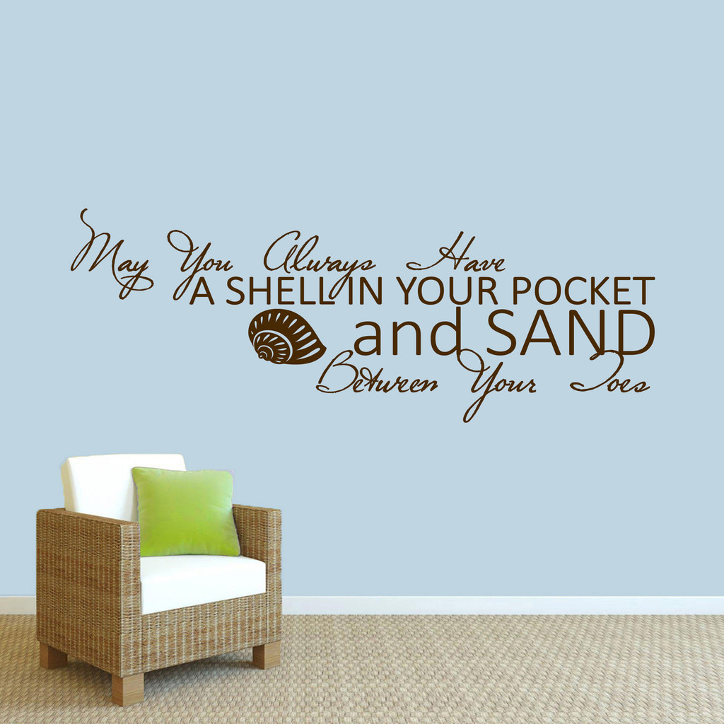 """A Shell In Your Pocket Wall Decal 60"""" wide x 22"""" tall Sample Image"""