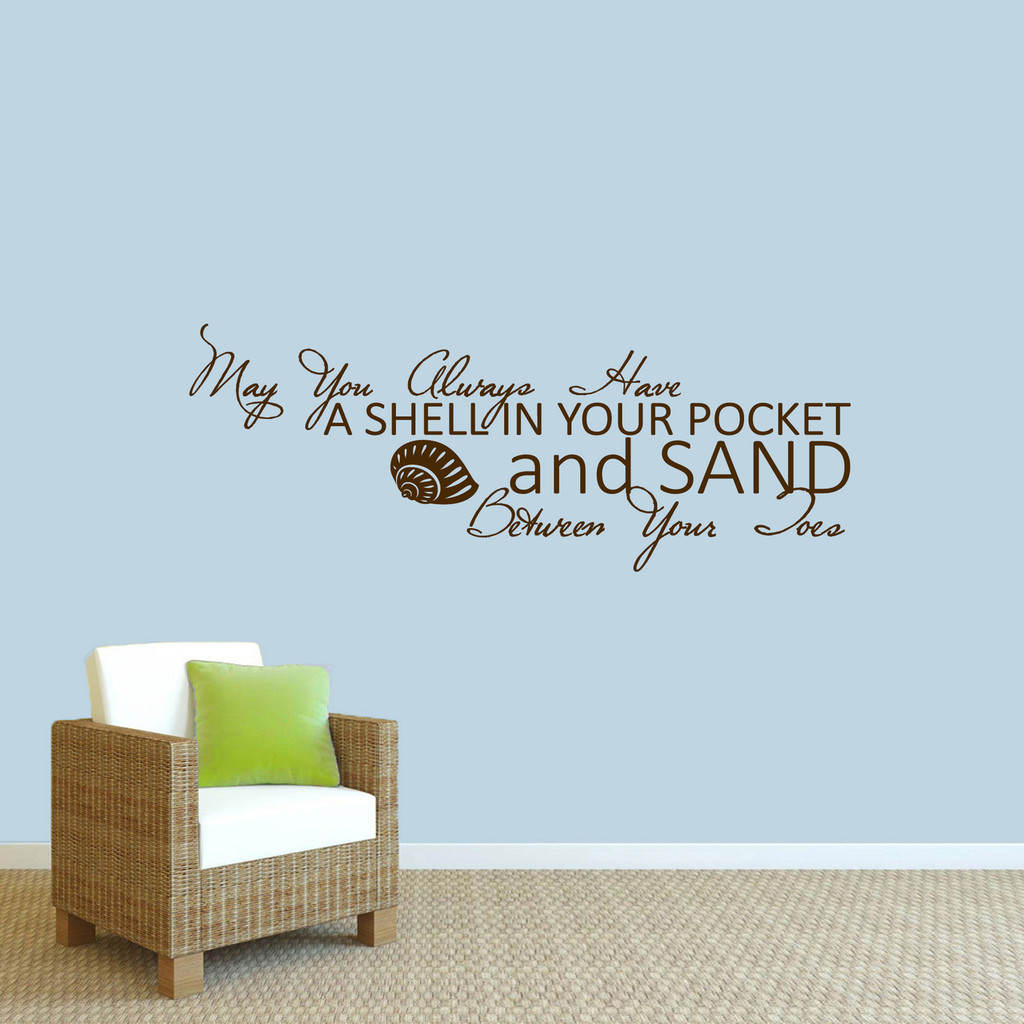 """A Shell In Your Pocket Wall Decal 48"""" wide x 18"""" tall Sample Image"""