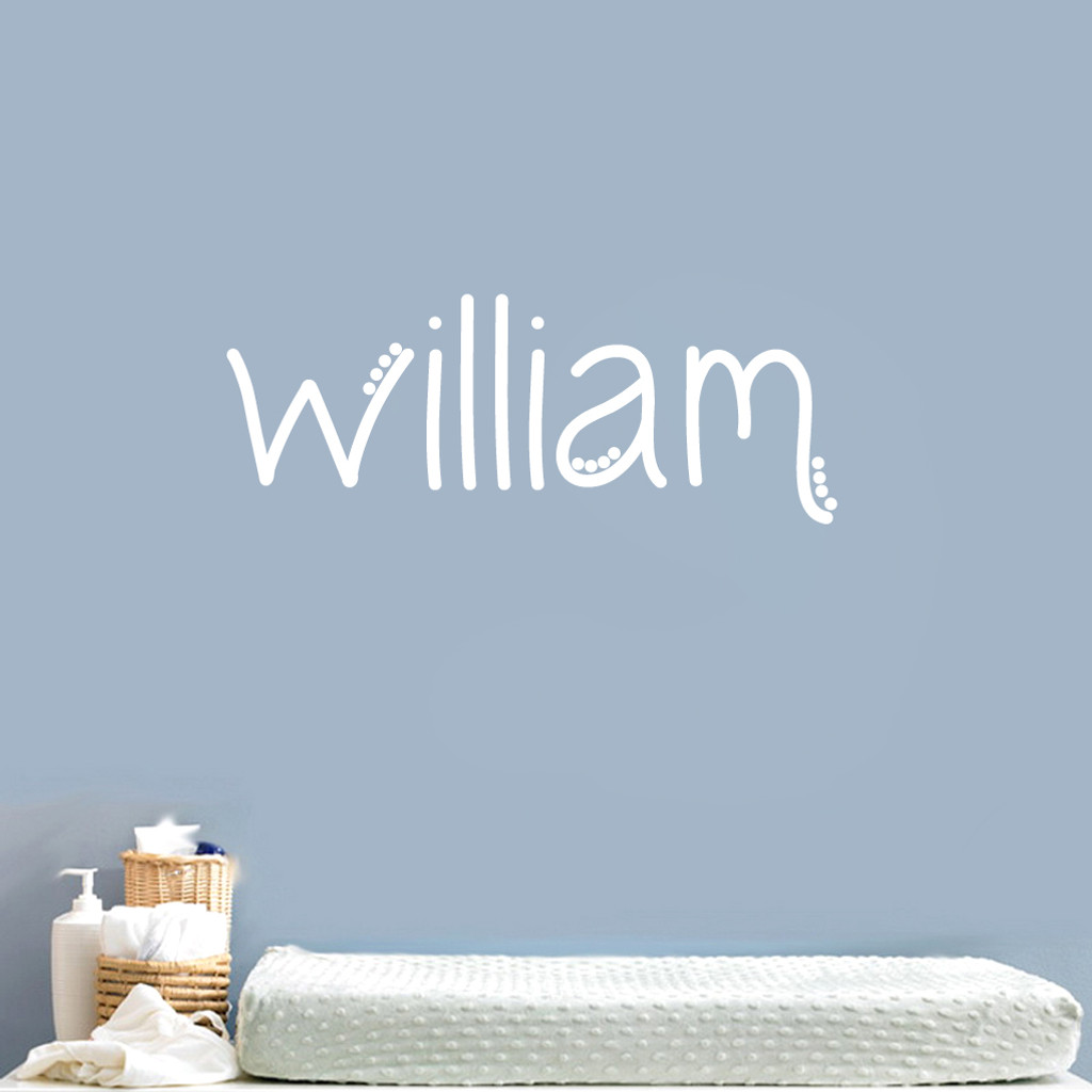 ... Custom Simple Dot Name Wall Decal