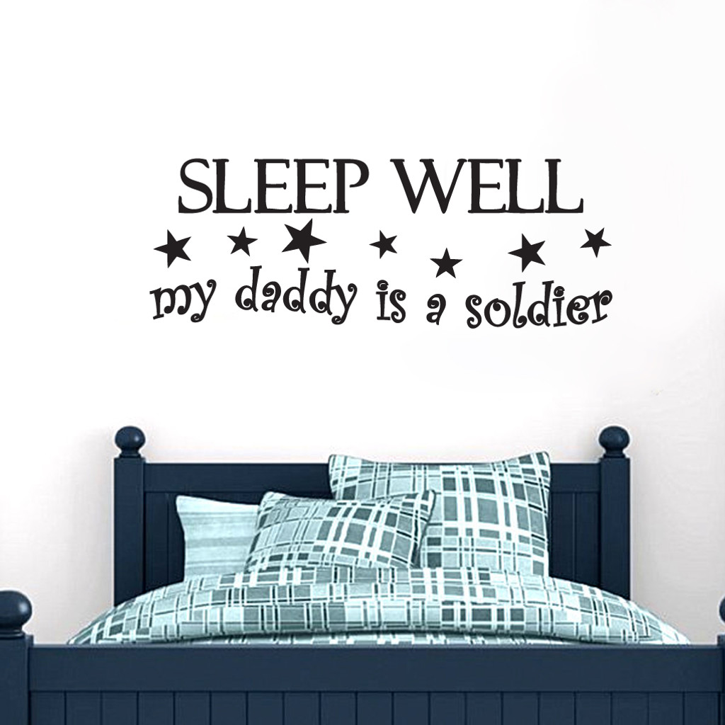 My Daddy Is A Soldier Wall Decals and Stickers