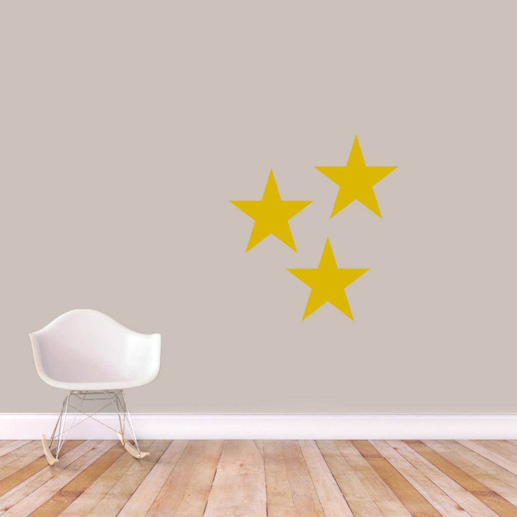 Set Of Stars Wall Decals Medium Sample Image