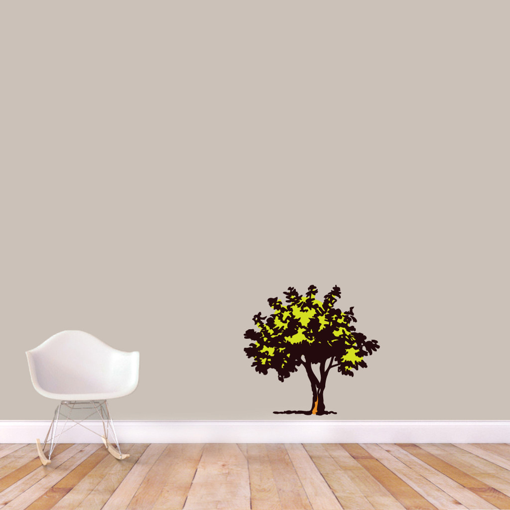 "Storybook Tree Printed Wall Decals 25"" wide x 24"" tall Sample Image"