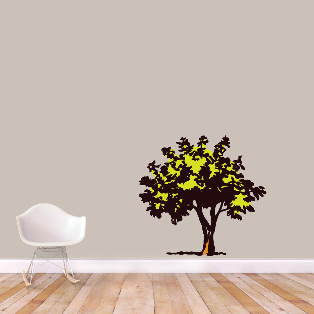 "Storybook Tree Printed Wall Decals 38"" wide x 36"" tall Sample Image"