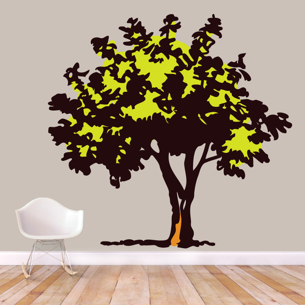 "Storybook Tree Printed Wall Decals 75"" wide x 72"" tall Sample Image"