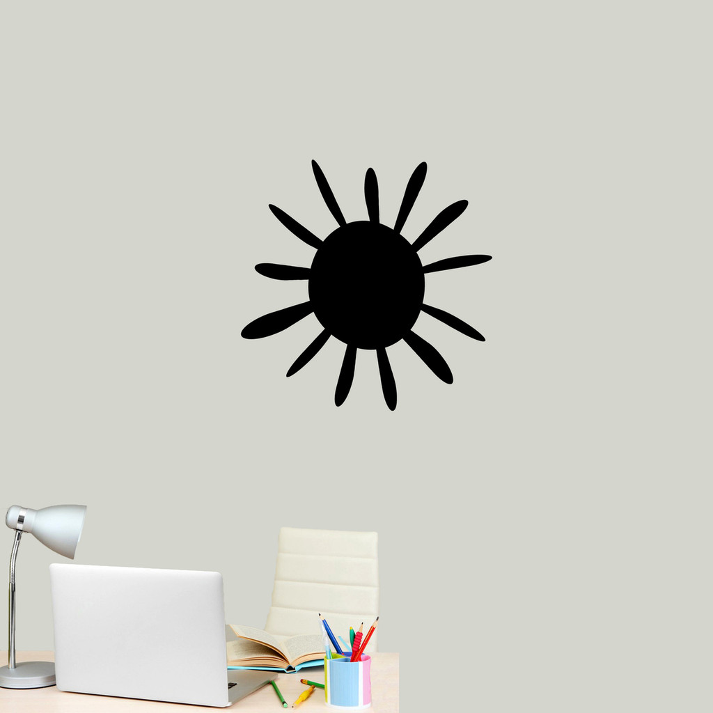 "Summer Sunshine Wall Decal 22"" wide x 22"" tall Sample Image"