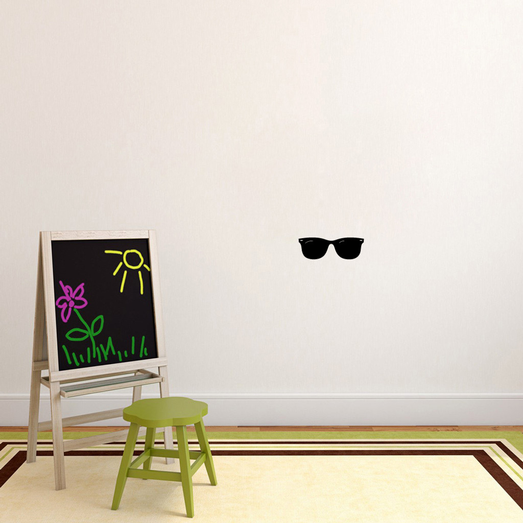 "Sunglasses Wall Decals 12"" wide x 4"" tall Sample Image"