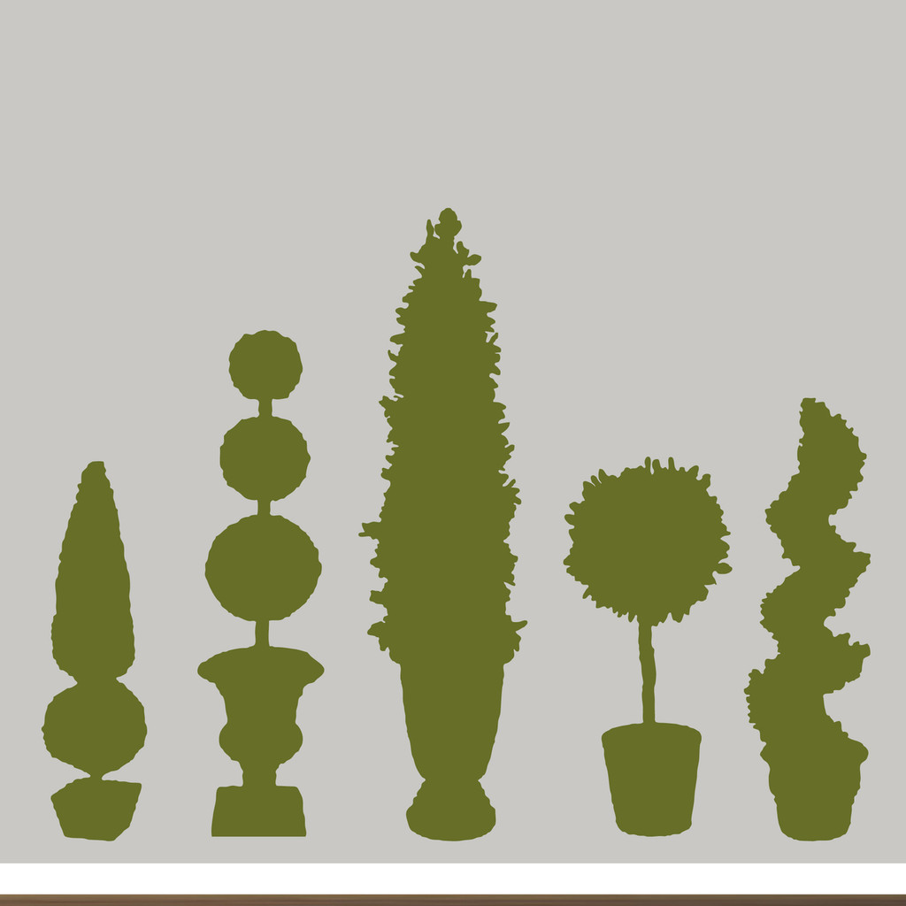 Topiaries Wall Decals Extra Large Sample Image