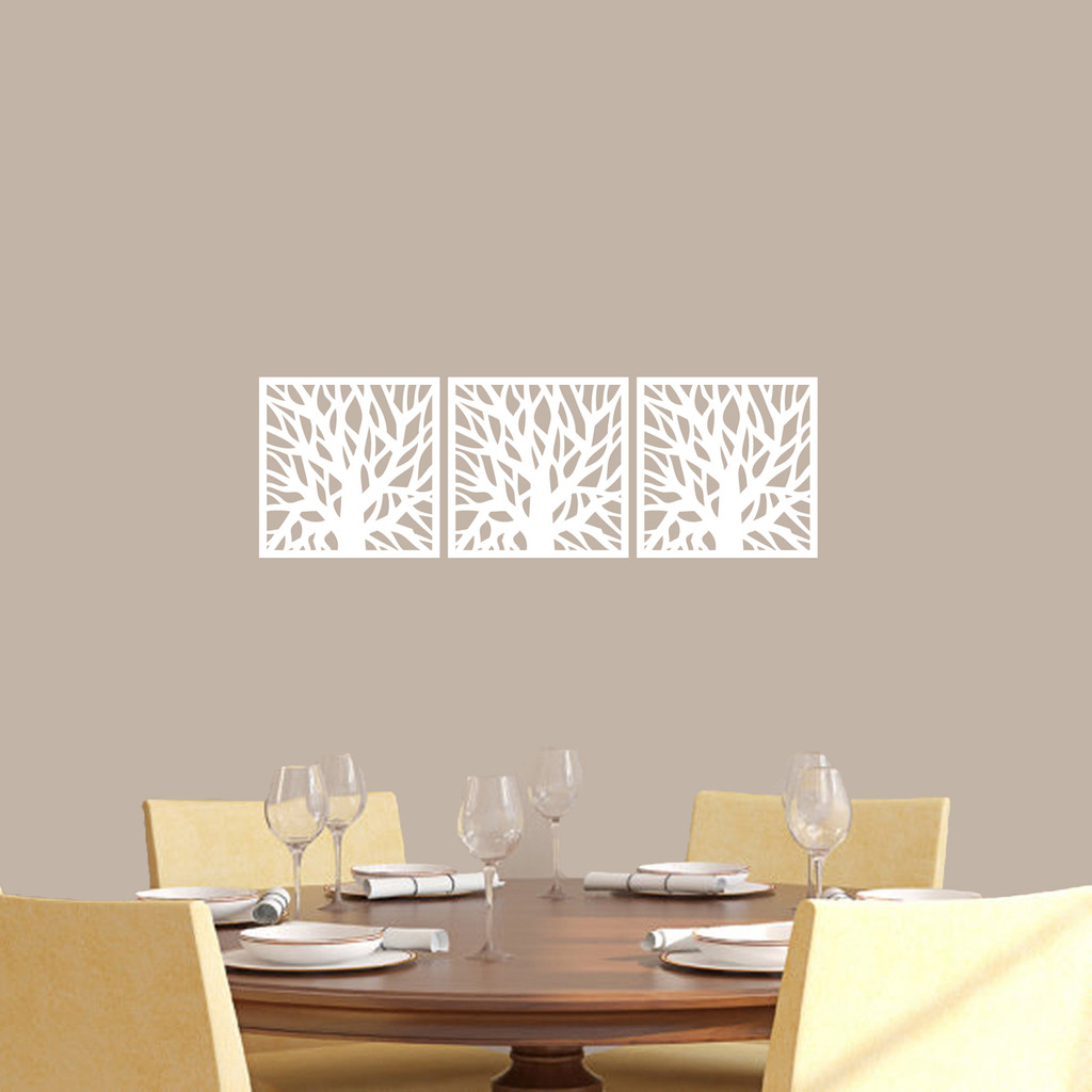Tree Branch Squares Wall Decals Small Sample Image