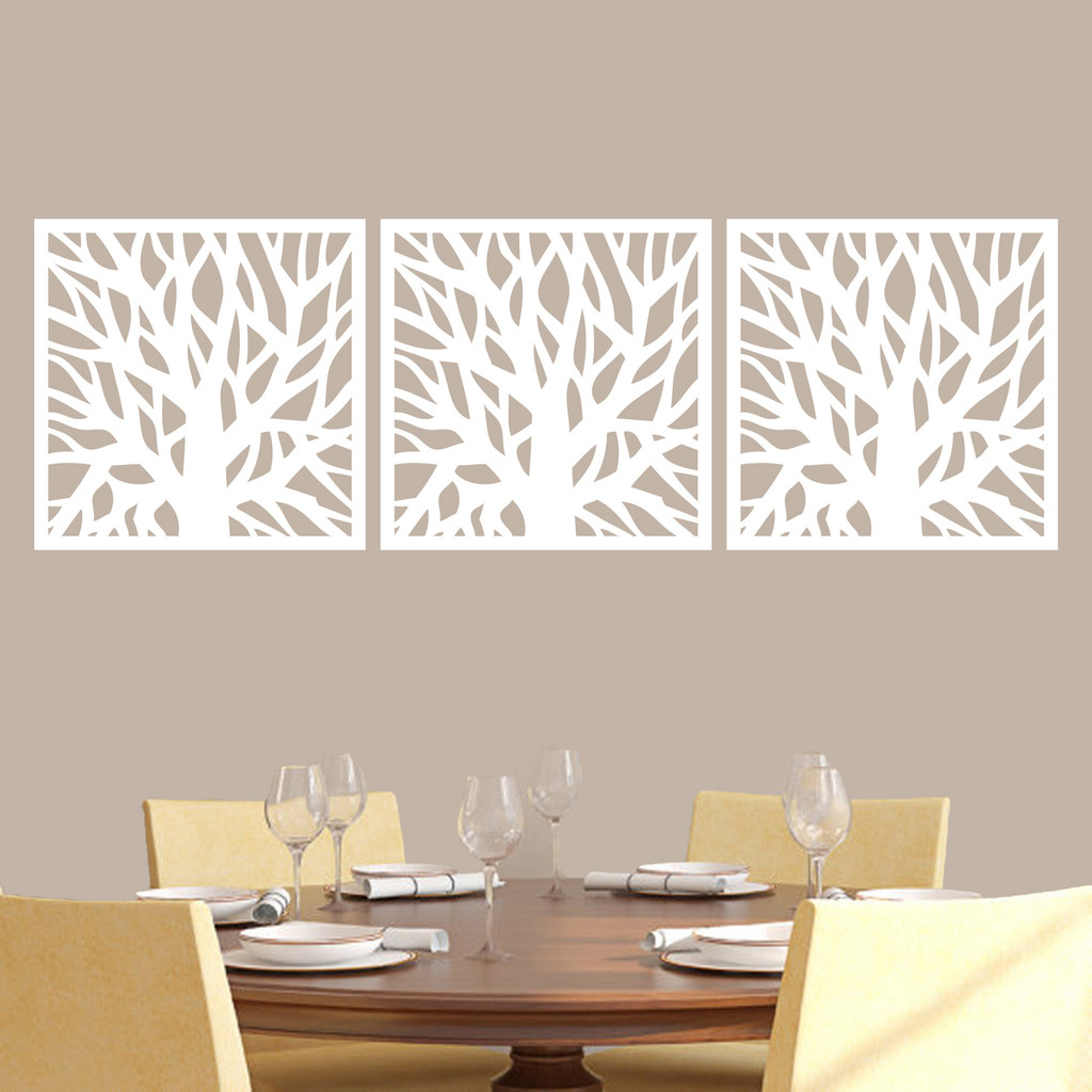Tree Branch Squares Wall Decals Large Sample Image