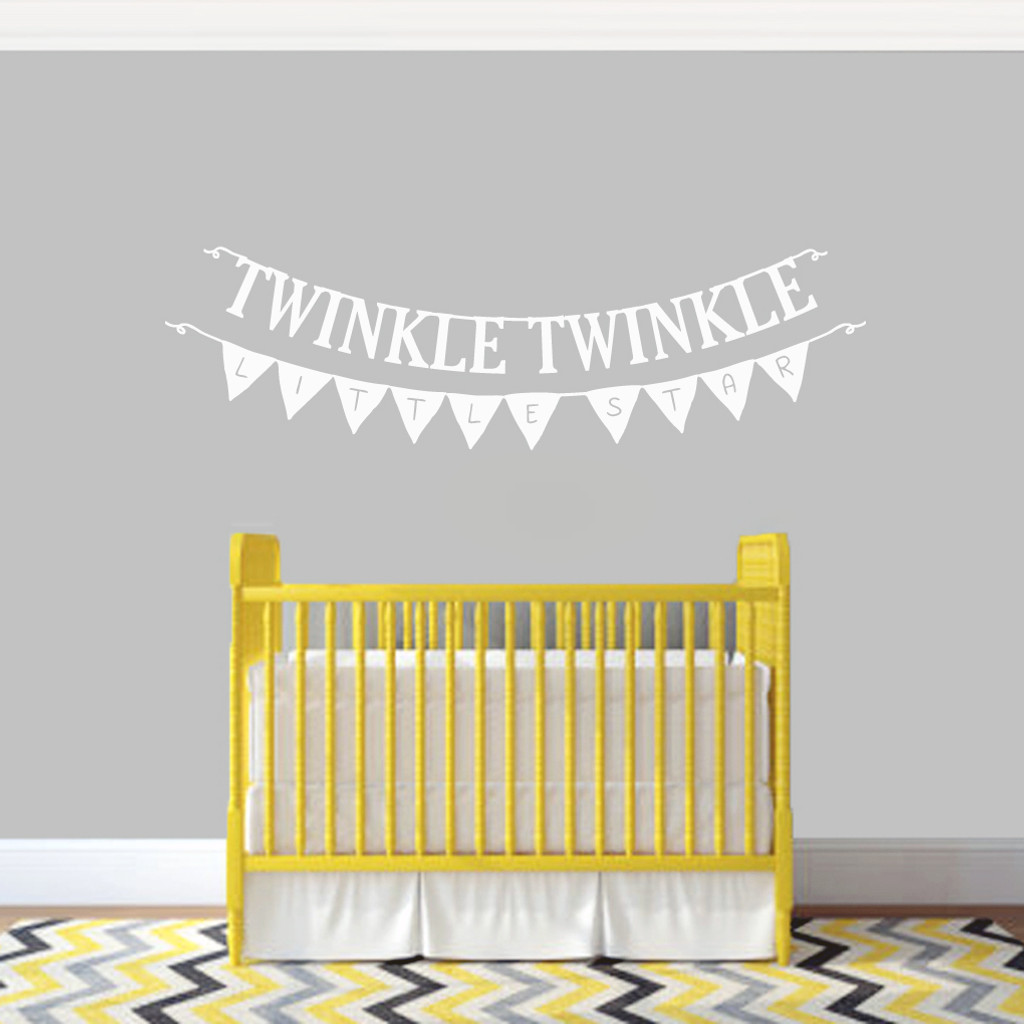 Twinkle Twinkle Little Star Banners Wall Decals