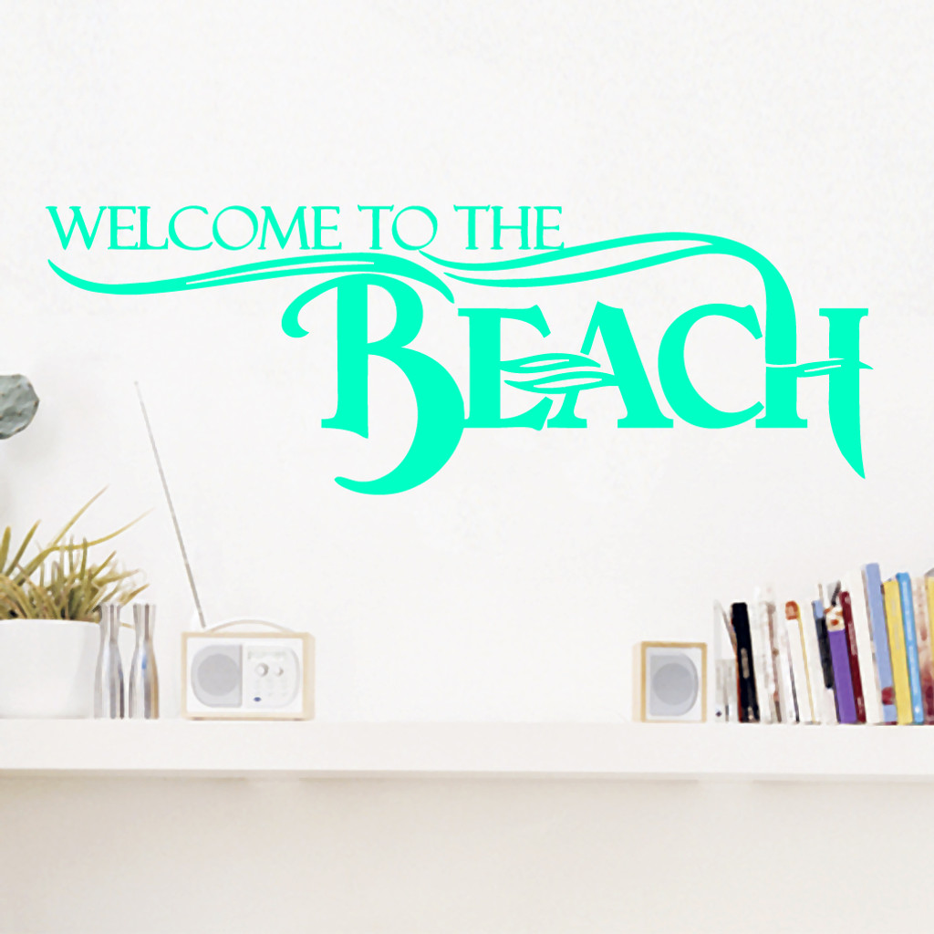 Welcome To The Beach Entryway Wall Decals And Stickers - Wall decals entryway