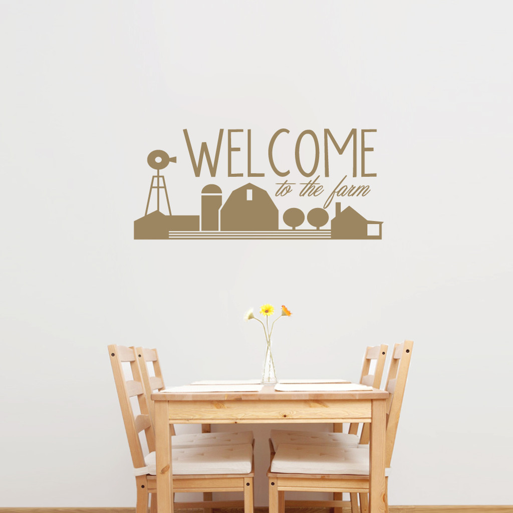 Welcome To The Farm Entryway Wall Decals And Stickers - Wall decals entryway