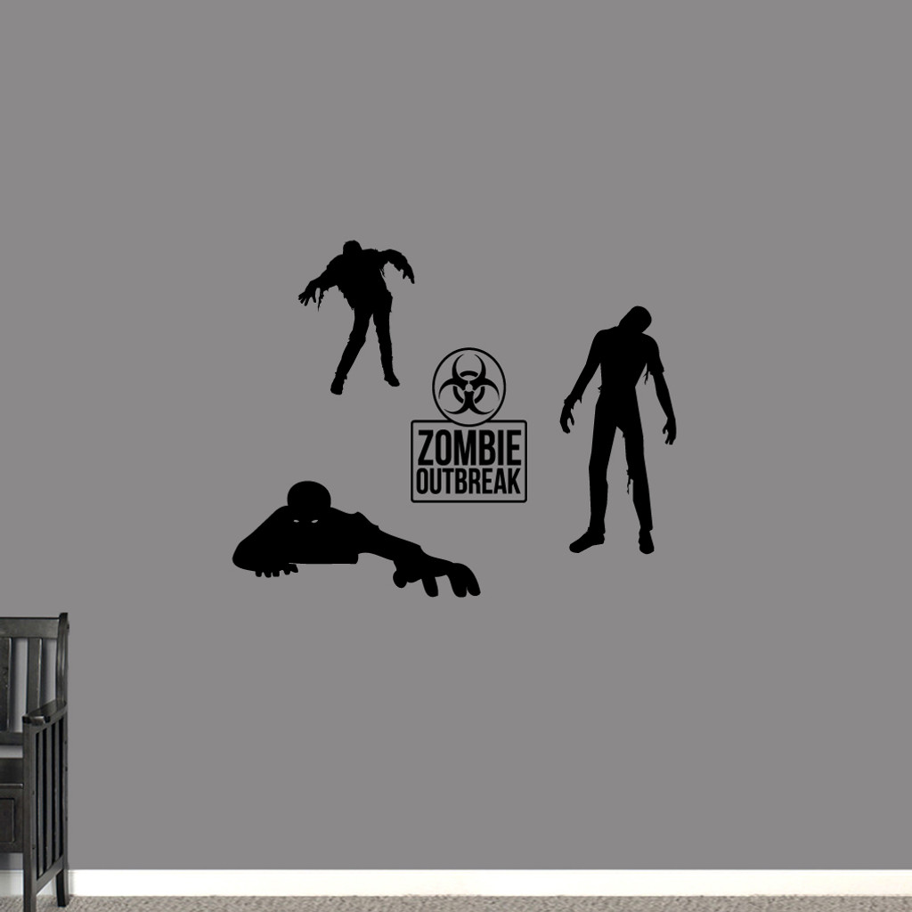 Zombies Set Wall Decals Small Sample Image