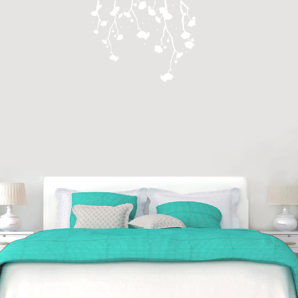 """Hanging Flowers Wall Decals 36"""" wide x 28"""" tall Sample Image"""