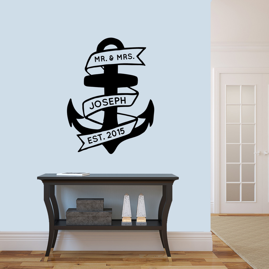 "Custom Anchor Wall Decal 27"" wide x 36"" tall Sample Image"