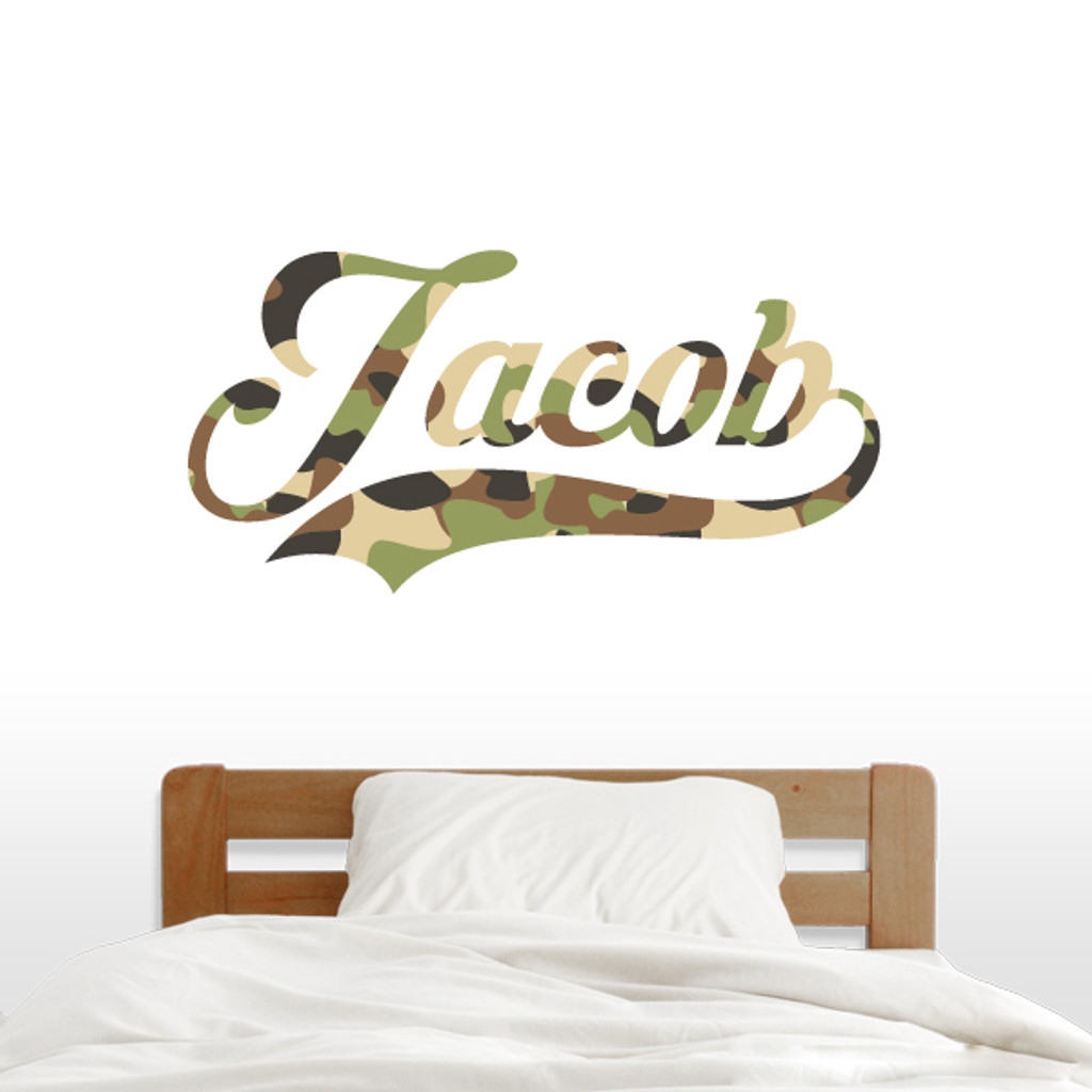 Printed Pattern Custom Script Name Wall Decals and Stickers