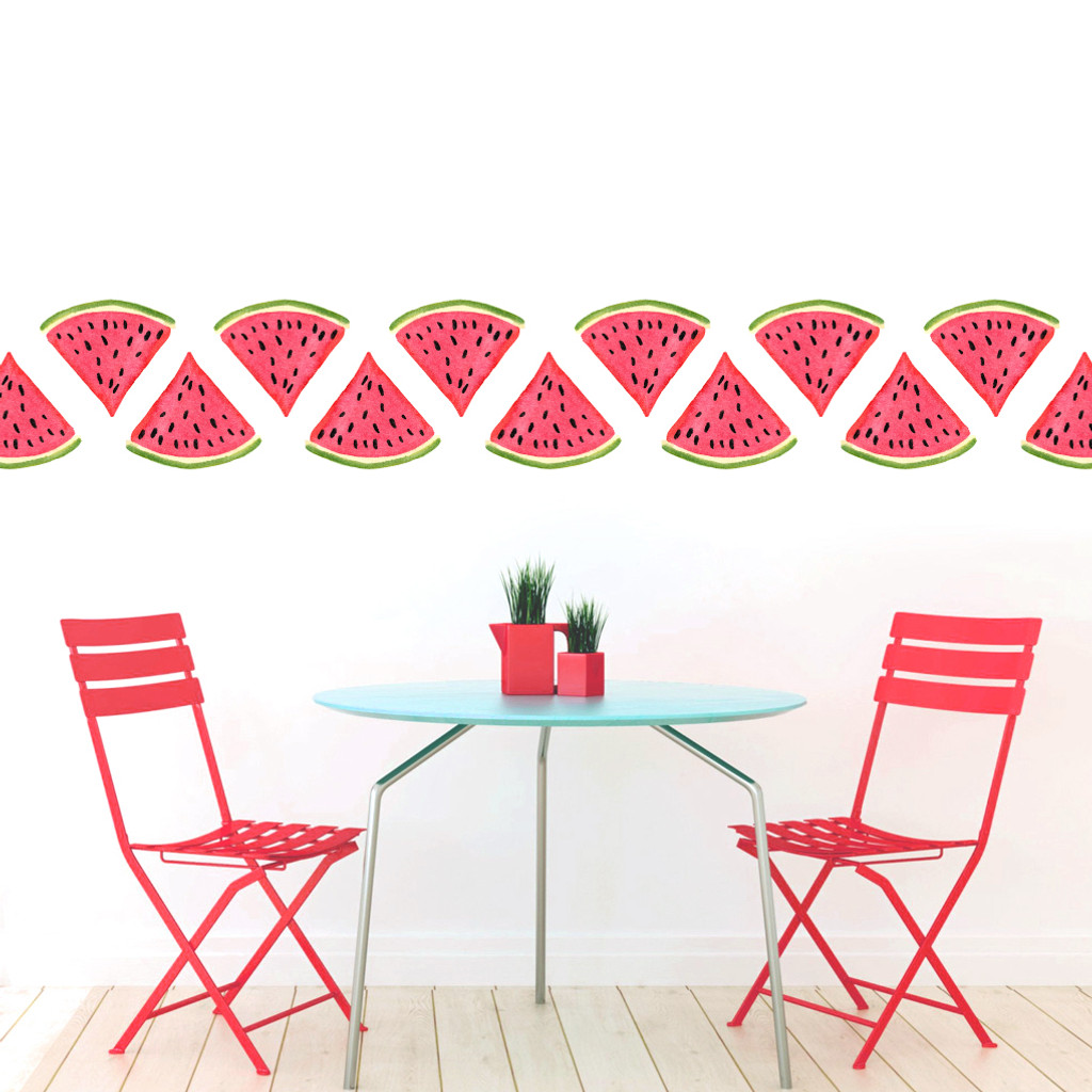 Watermelon Printed Wall Decals and Stickers