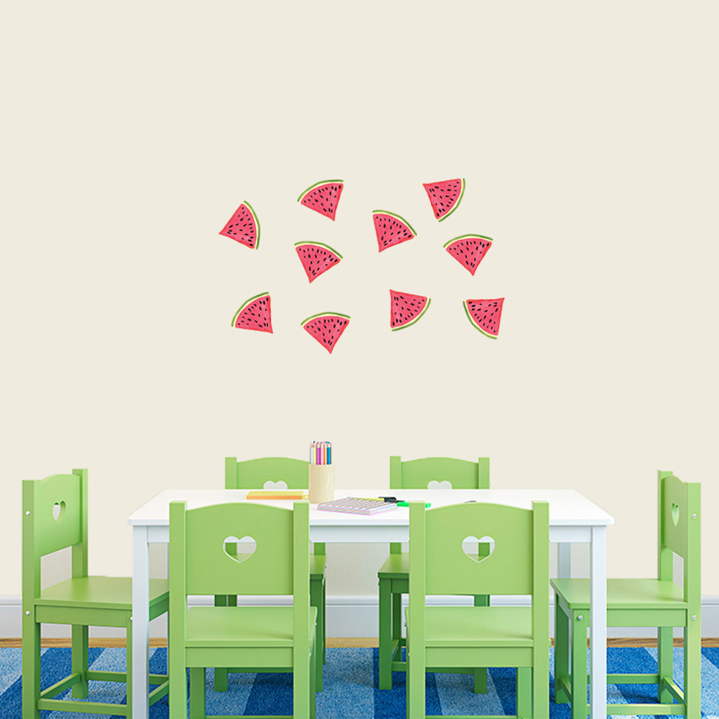 Watermelon Printed Wall Decals Small Sample Image