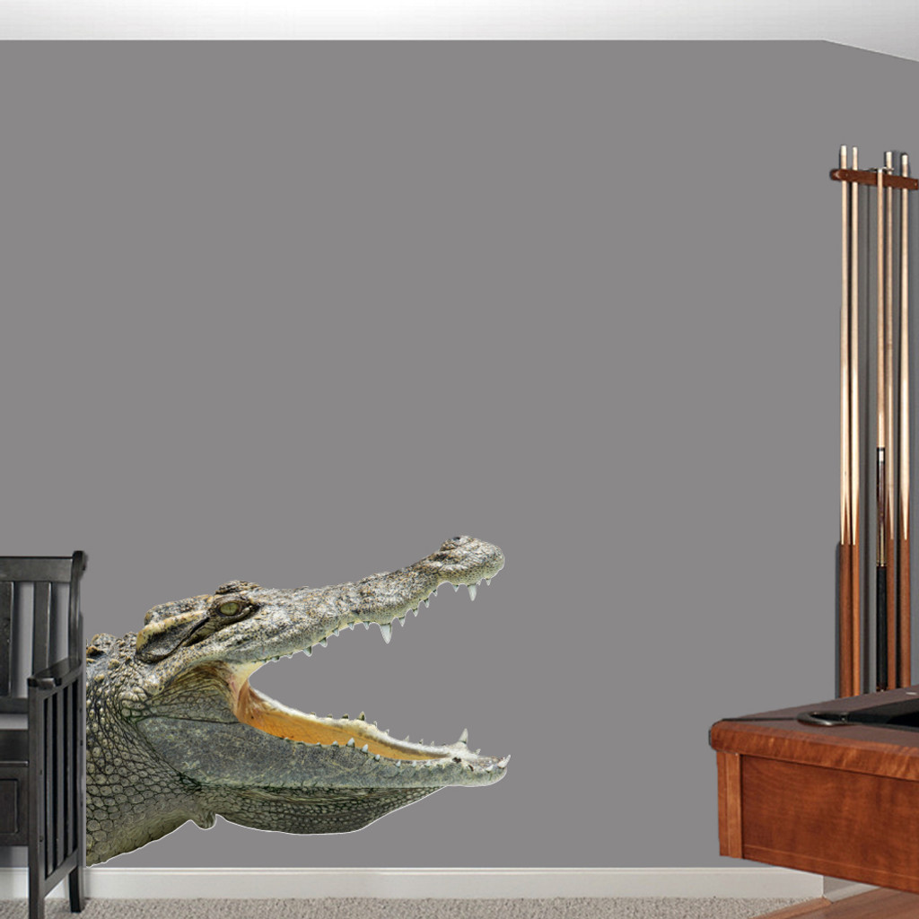 "Real Life Alligator Printed Wall Decals Wall Stickers 46"" wide x 36"" tall Sample Image"