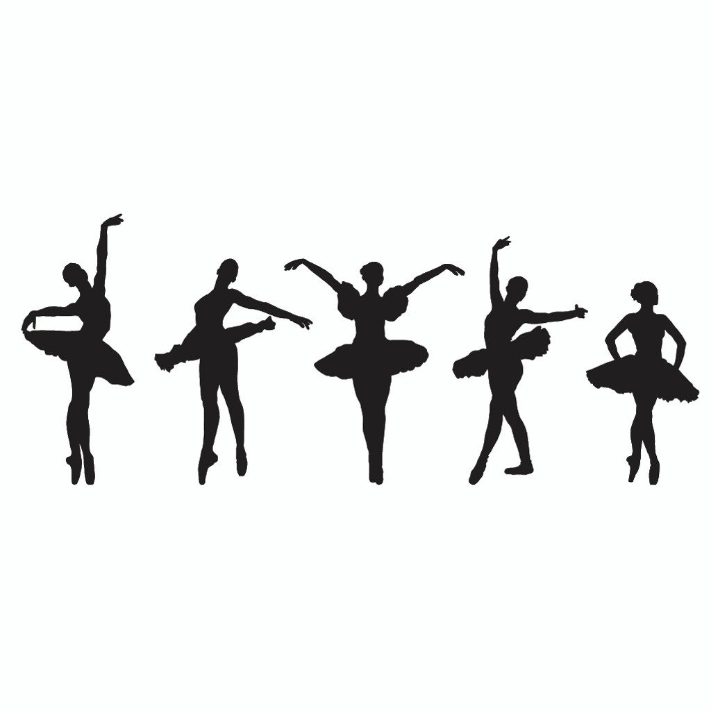 Ballerina Border  Wall Decals