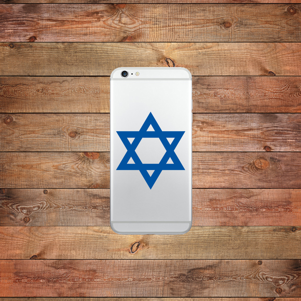 Star Of David Device Decal Water Bottle Sticker