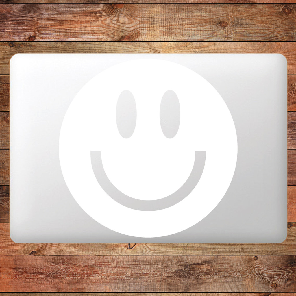 Smiley Face Device Decal Water Bottle Stickers