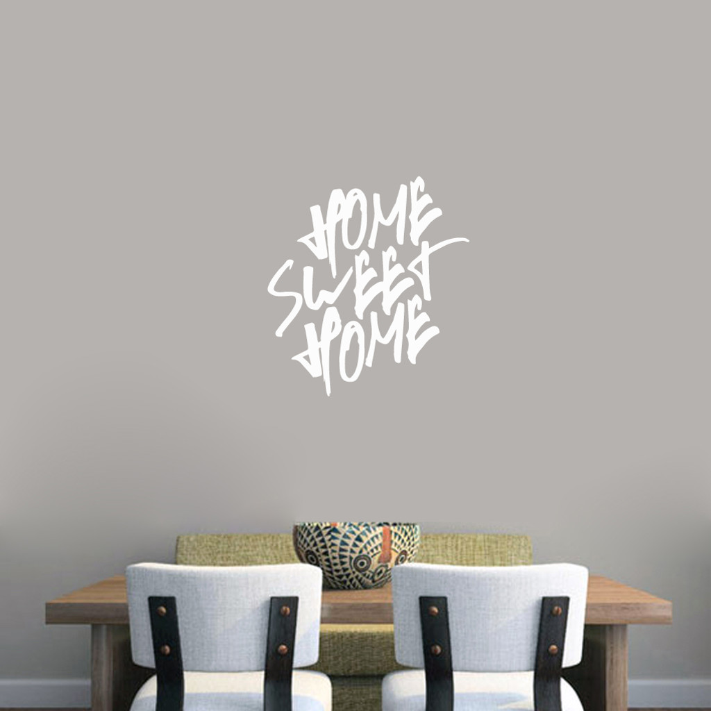 "Home Sweet Home Wall Decal 22"" wide x 24"" tall Sample Image"
