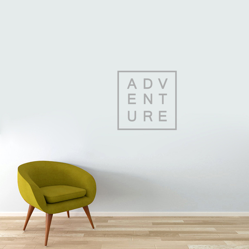 "Adventure Wall Decal 22"" wide x 22"" tall Sample Image"