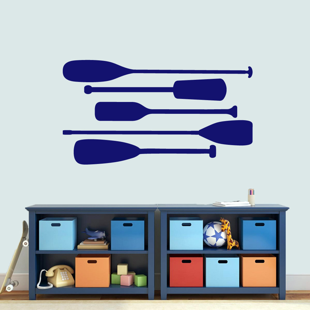 Boat Oars Wall Decals Large Sample Image