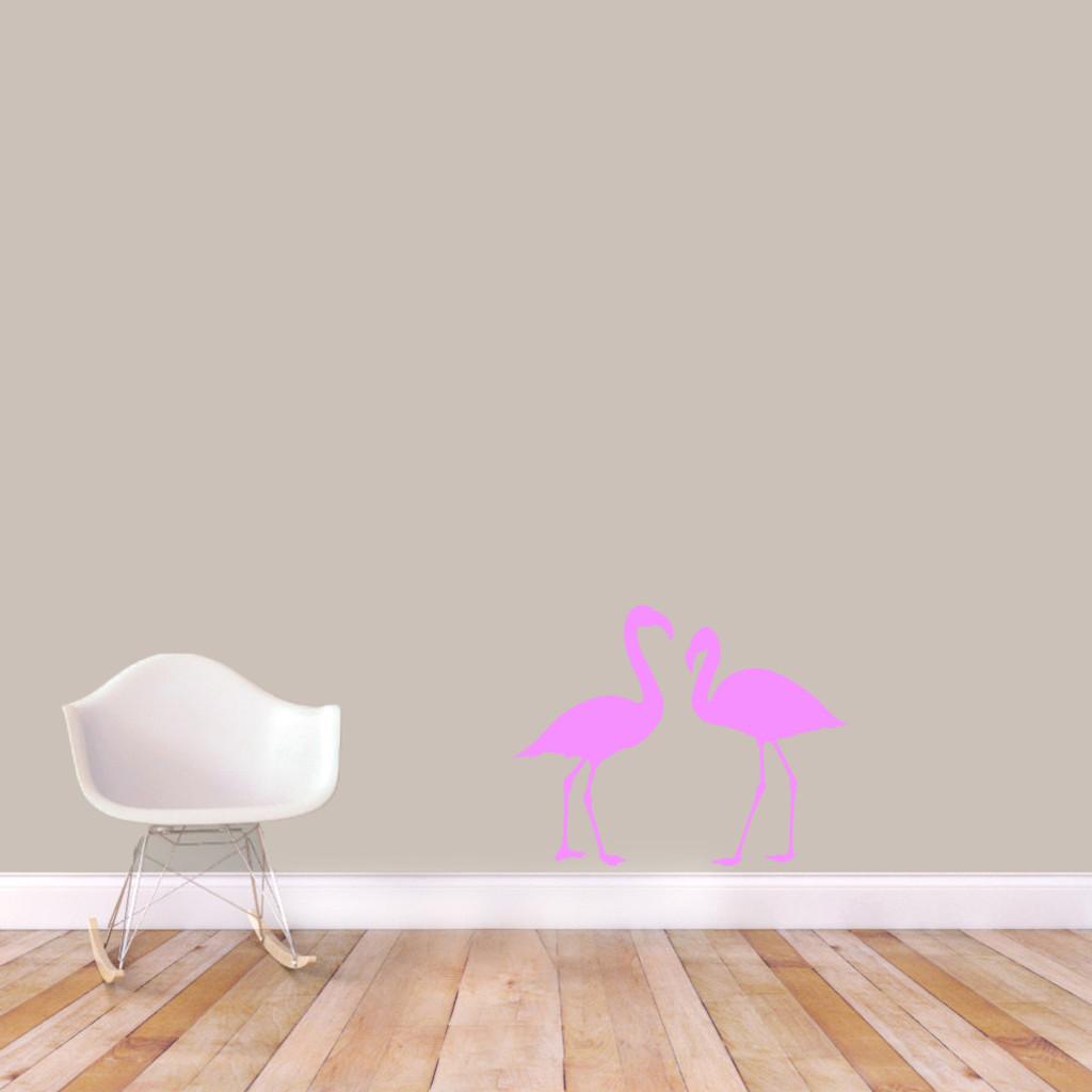 Flamingos Wall Decals Small Sample Image