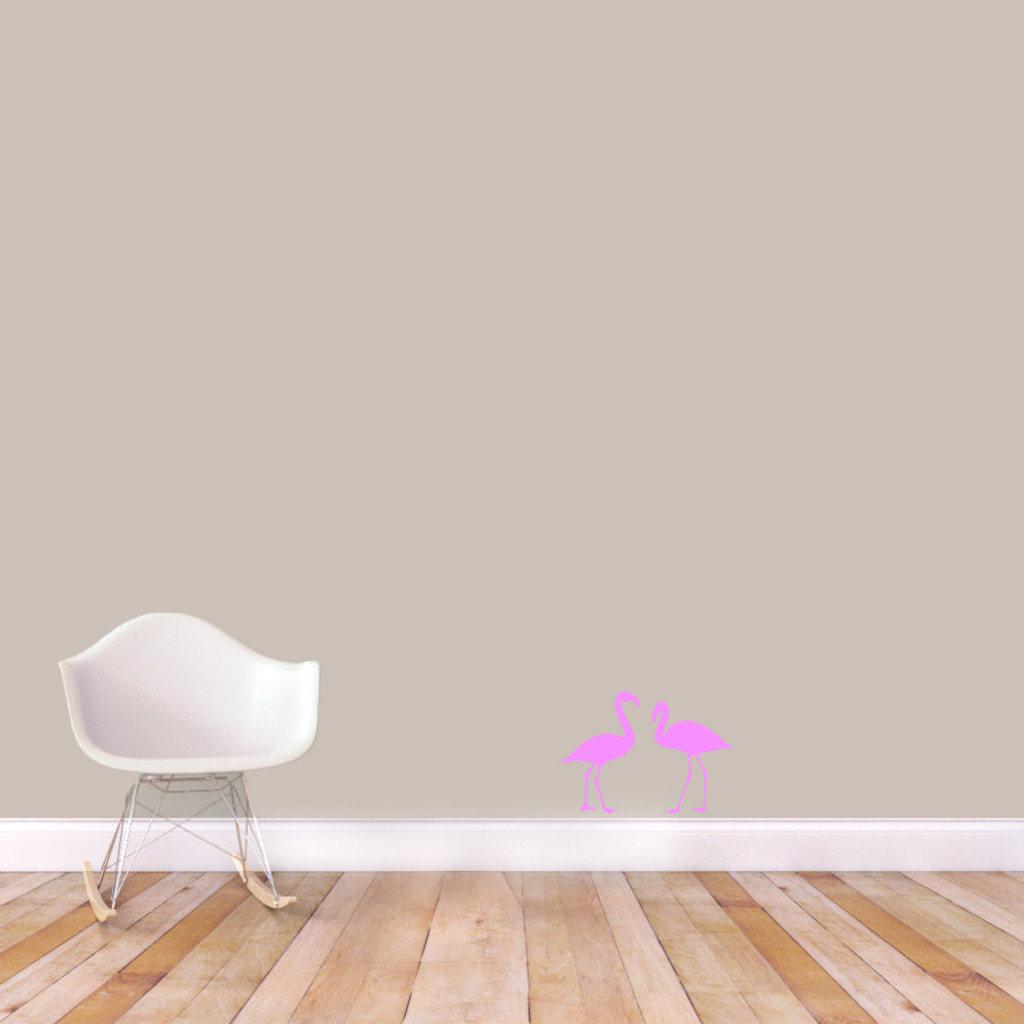 Flamingos Wall Decals Extra Small Sample Image