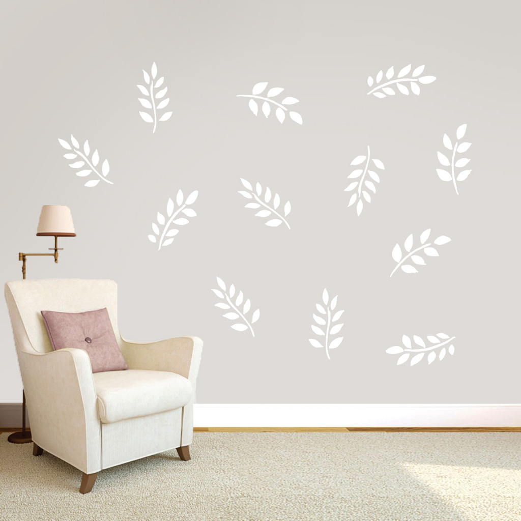 Leafy Branches Pack Wall Decals Small Sample Image