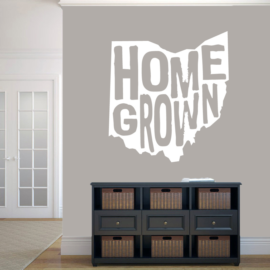 """Homegrown Ohio Wall Decal 33"""" wide x 36"""" tall Sample Image"""