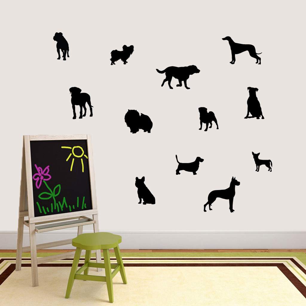Dog Silhouettes Wall Decals Small Sample Image