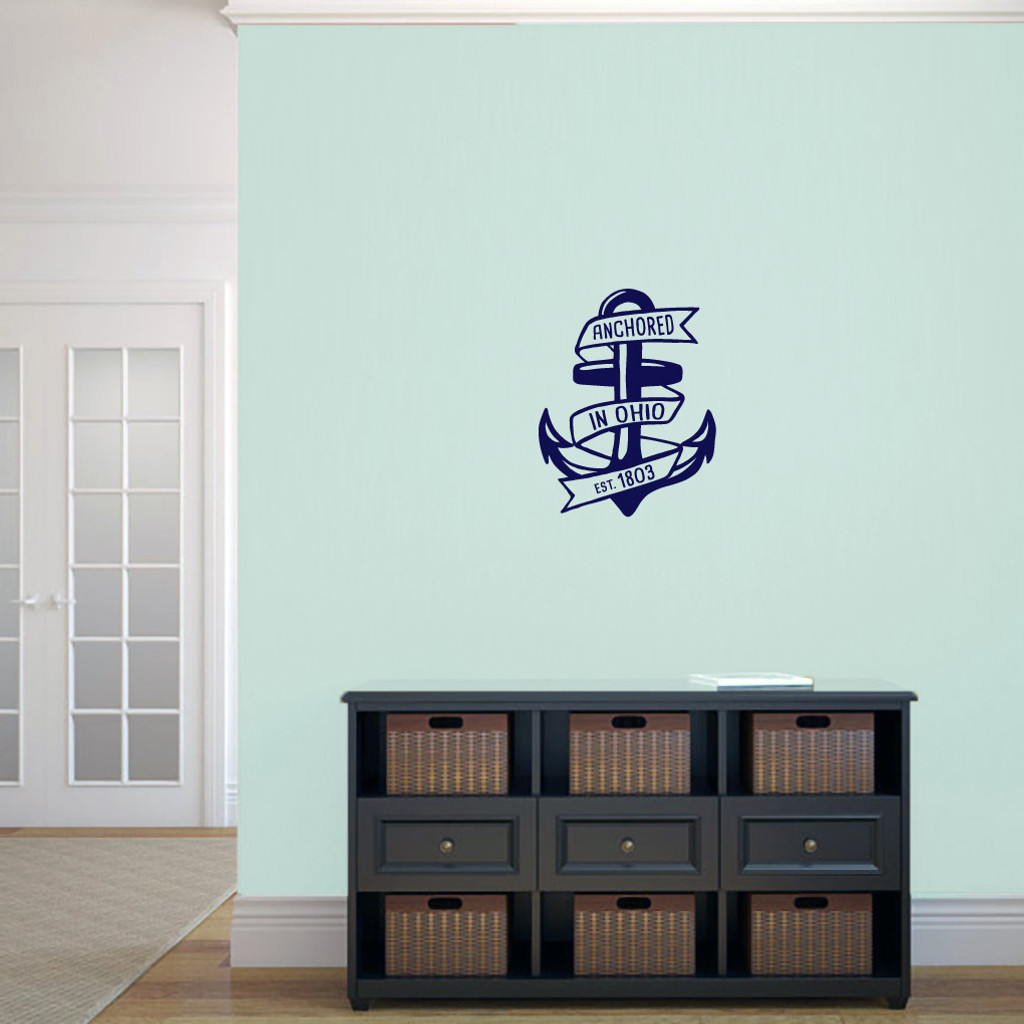 "Anchored In Ohio Wall Decal 14"" wide x 18"" tall Sample Image"