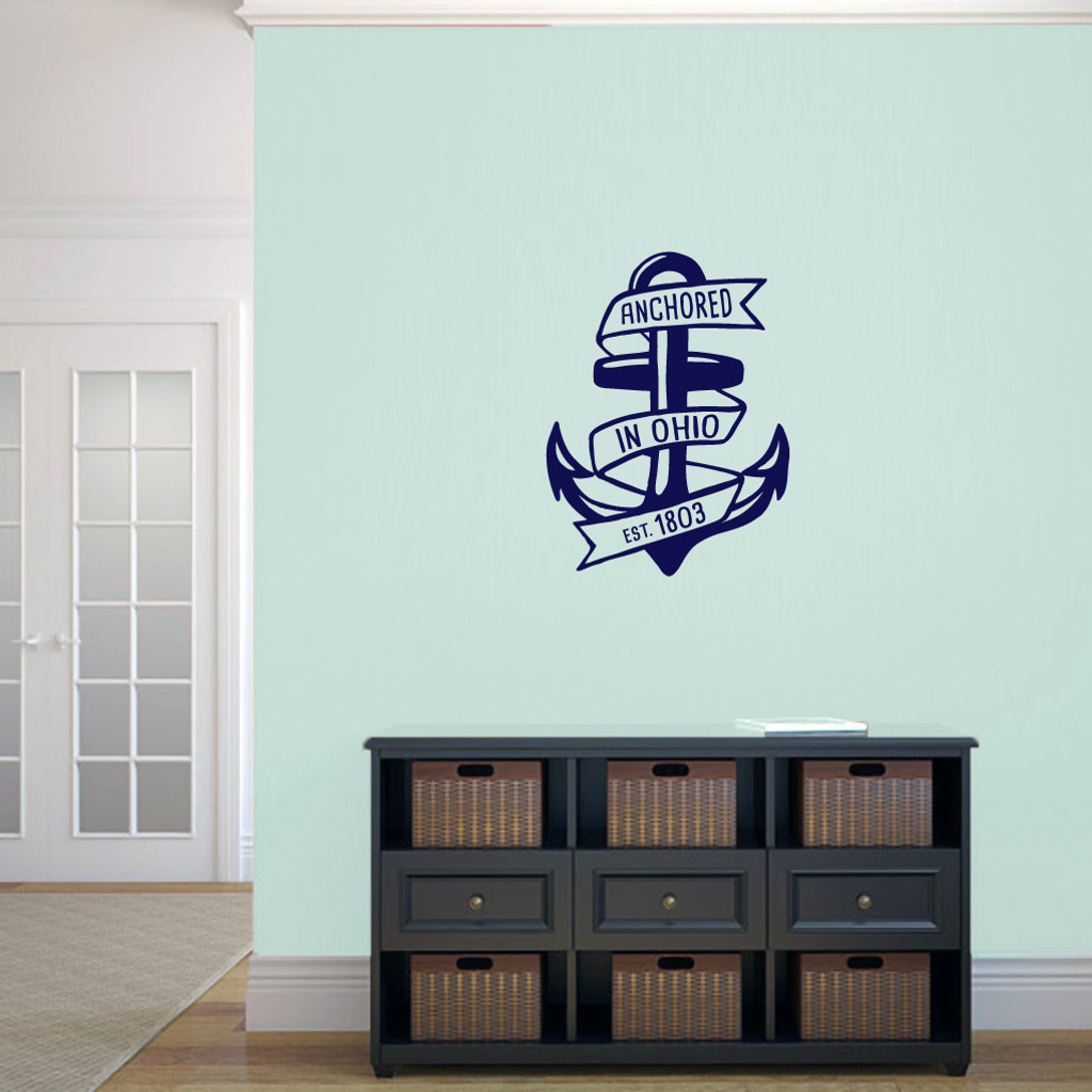 "Anchored In Ohio Wall Decal 18"" wide x 24"" tall Sample Image"