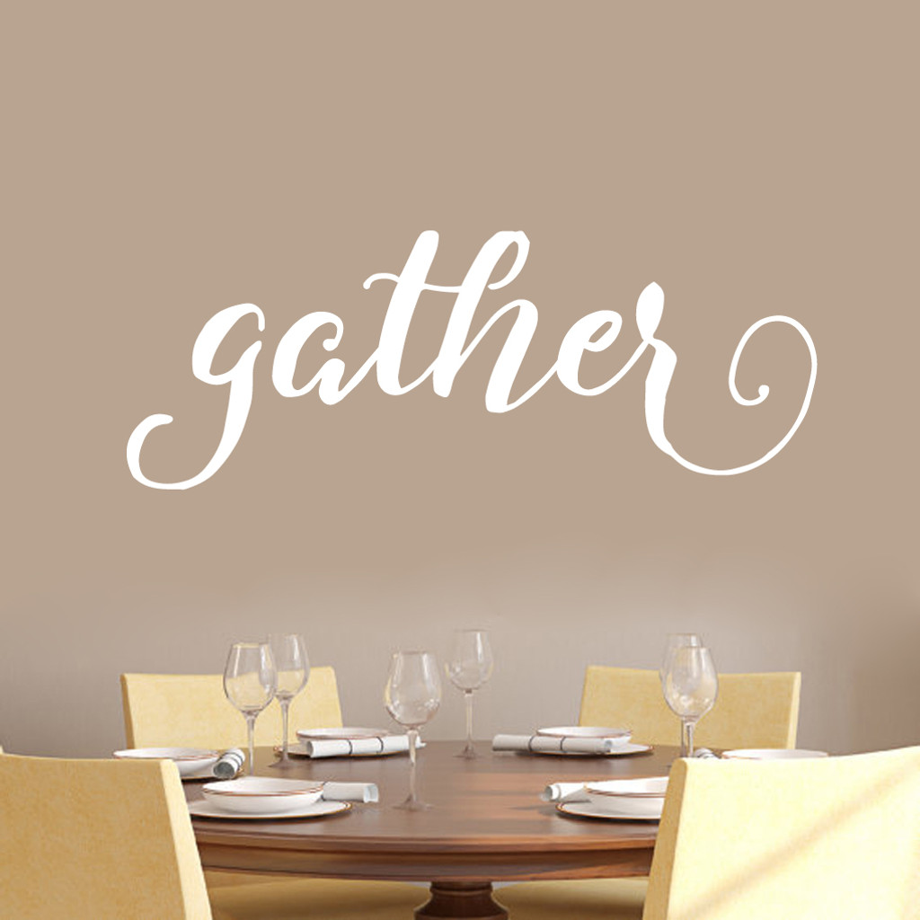 "Gather Wall Decal 48"" wide x 18"" tall Sample Image"