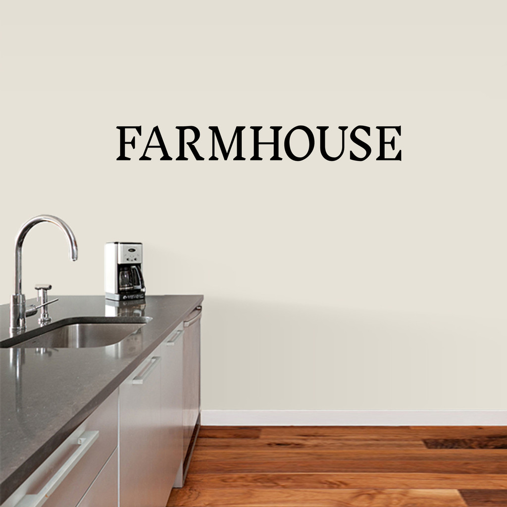 "Farmhouse Wall Decal 48"" wide x 6"" tall Sample Image"