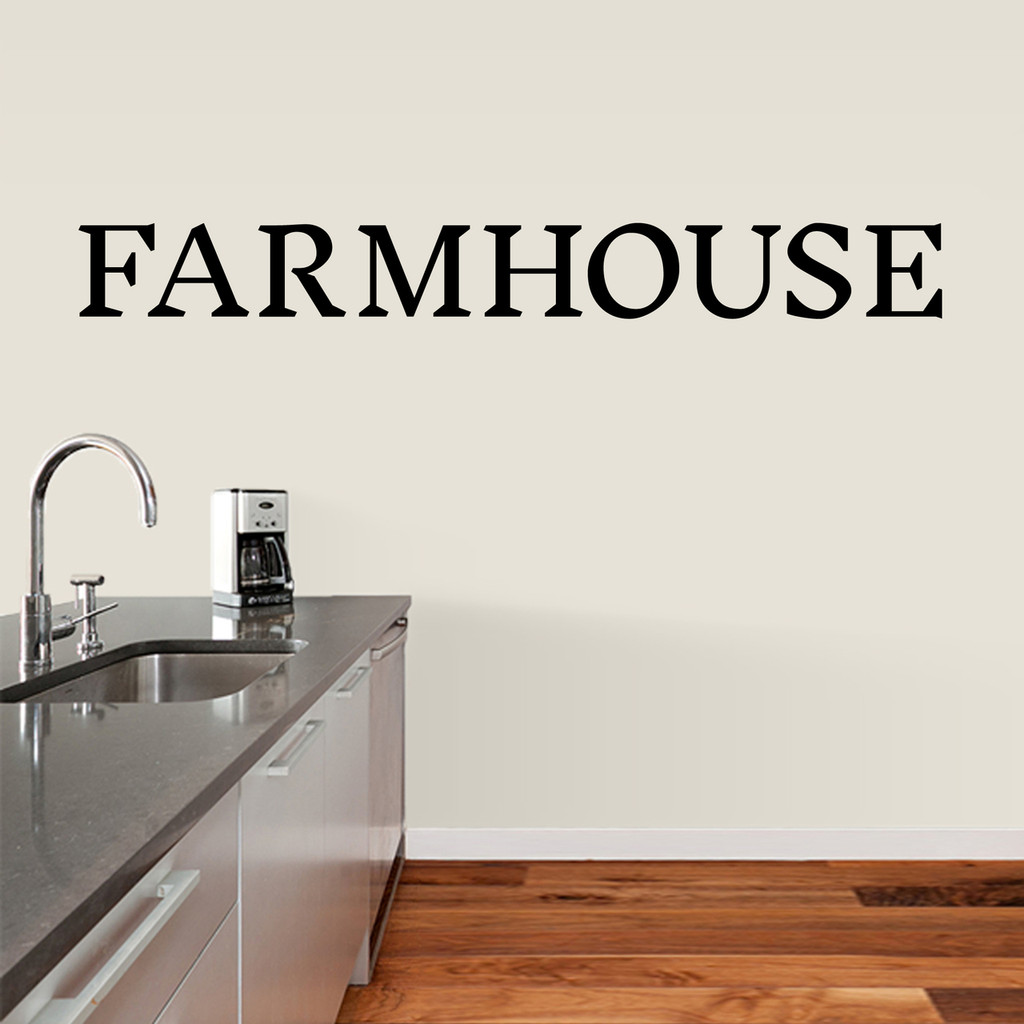 "Farmhouse Wall Decal 72"" wide x 8"" tall Sample Image"