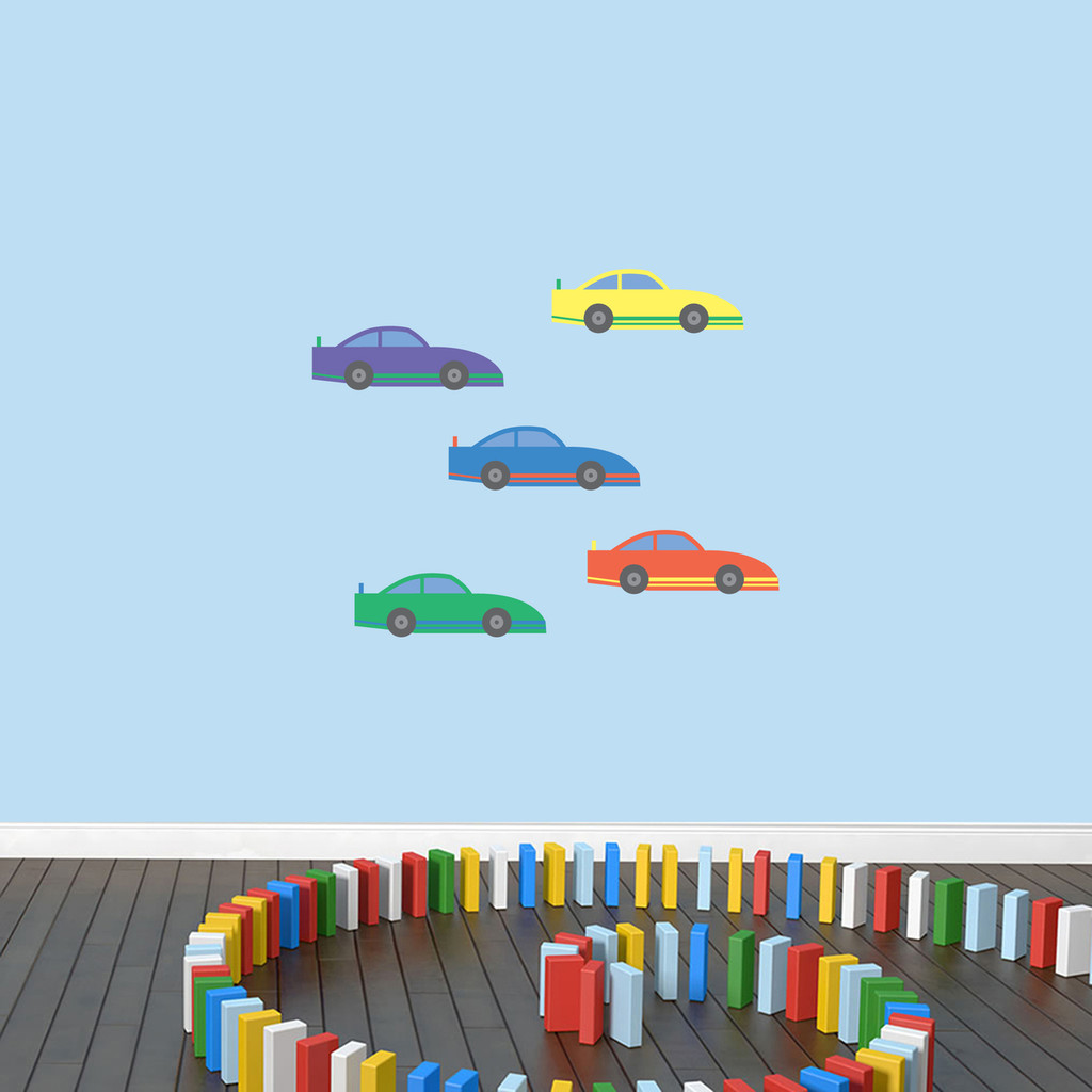 Race Cars Printed Wall Decals Small Sample Image