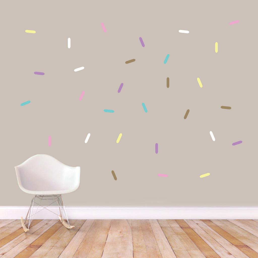Sprinkles Printed Wall Decals Pastel Sample Image