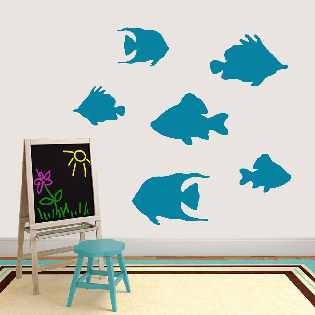Set Of Fish Wall Decals Large Sample Image