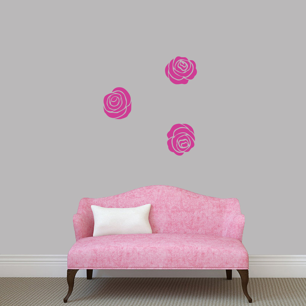 Set Of Roses Wall Decals Small Sample Image
