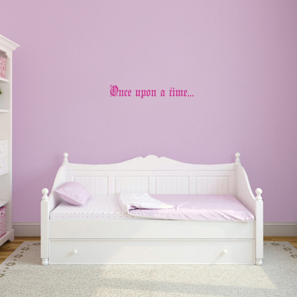 """Once Upon A Time Wall Decal 24"""" wide x 4"""" tall Sample Image"""