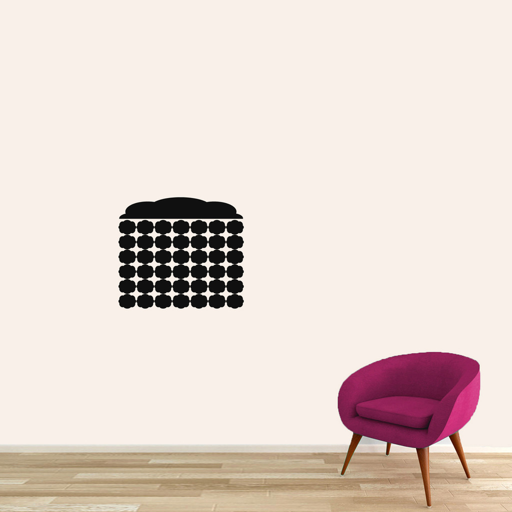 "Chalkboard Fancy Calendar Wall Decals 18"" wide x 16"" tall Sample Image"