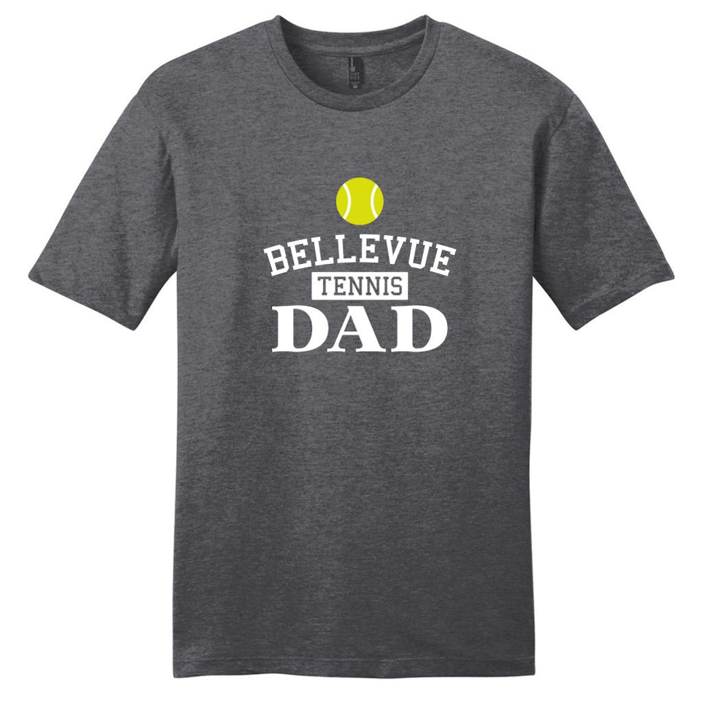Heathered Charcoal Custom Tennis Dad T-Shirt