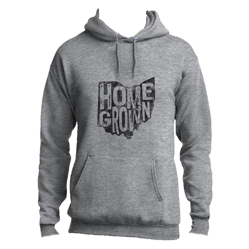 Athletic Heather Homegrown Ohio Adult Unisex Hoodie