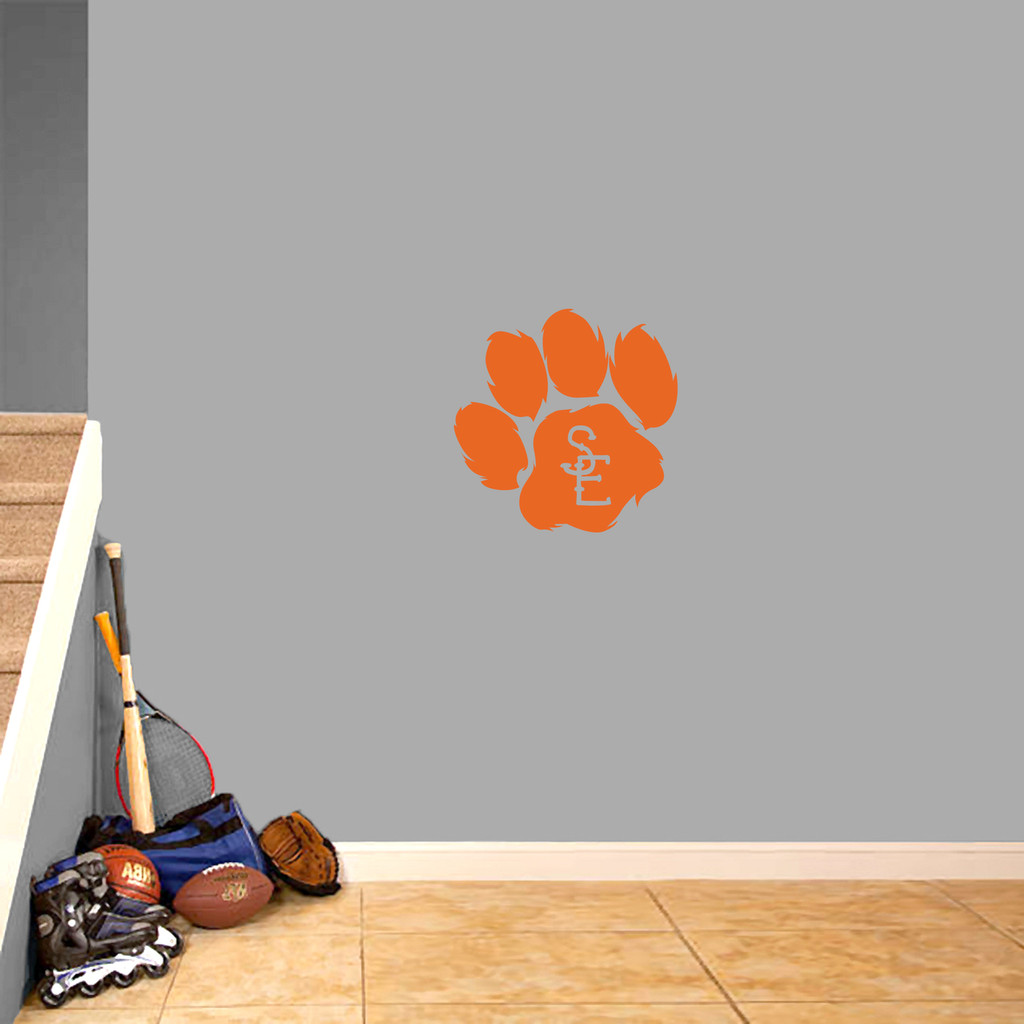 "Seneca East Paw Print Wall Decal 18"" wide x 18"" tall Sample Image"