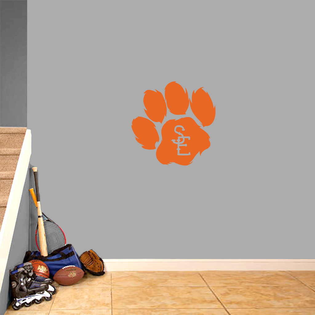 "Seneca East Paw Print Wall Decal 22"" wide x 22"" tall Sample Image"