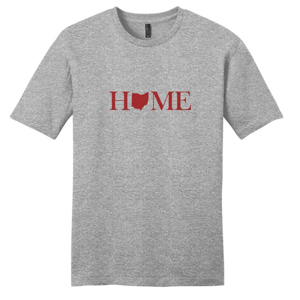 Light Heathered Gray Custom Home State T-Shirt
